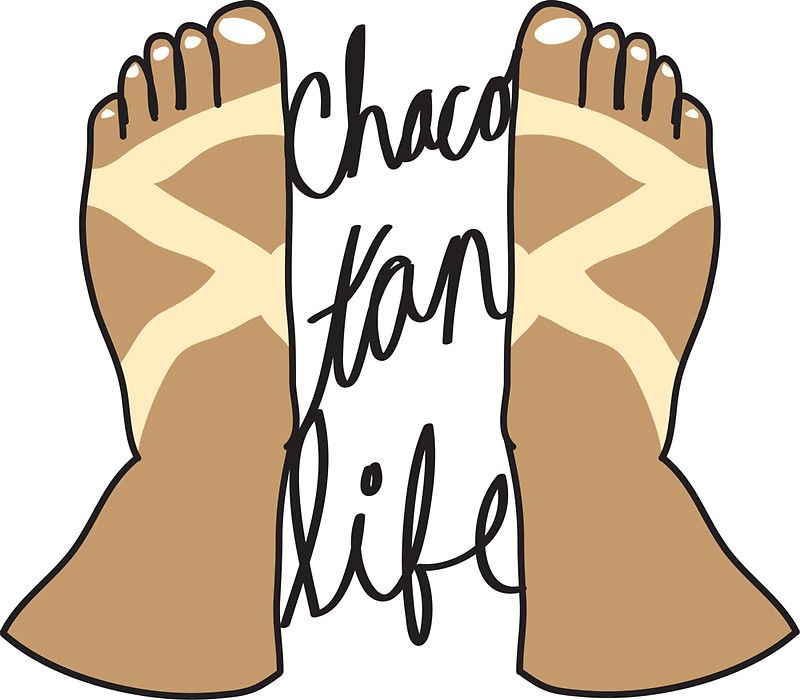 Chaco Tan Life\' Sticker by erikasterner.