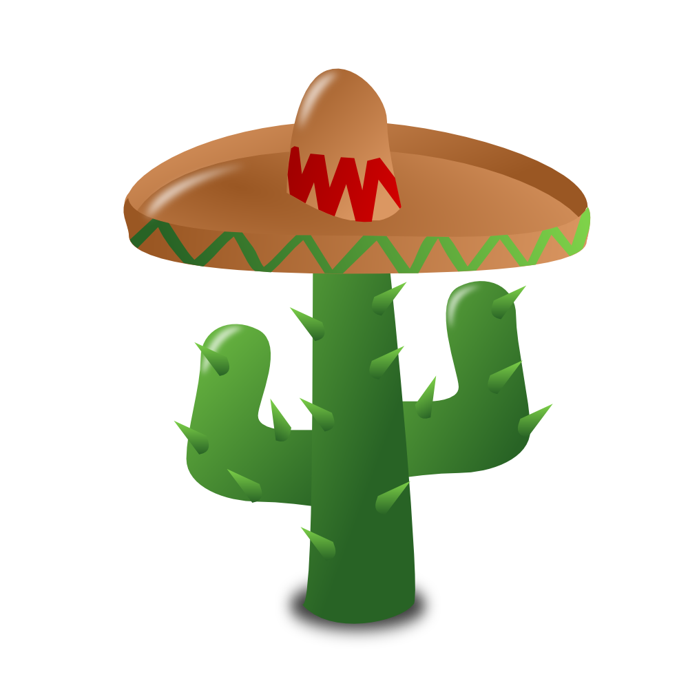 Mexican cactus clipart.