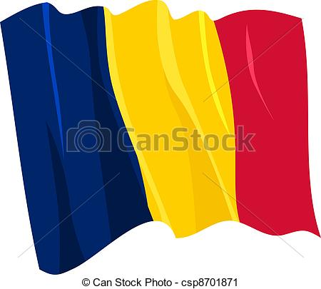 flag of Chad clipart.