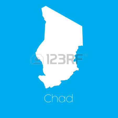 830 Map Of Chad Stock Vector Illustration And Royalty Free Map Of.