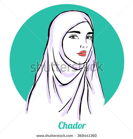Chador Stock Photos, Royalty.