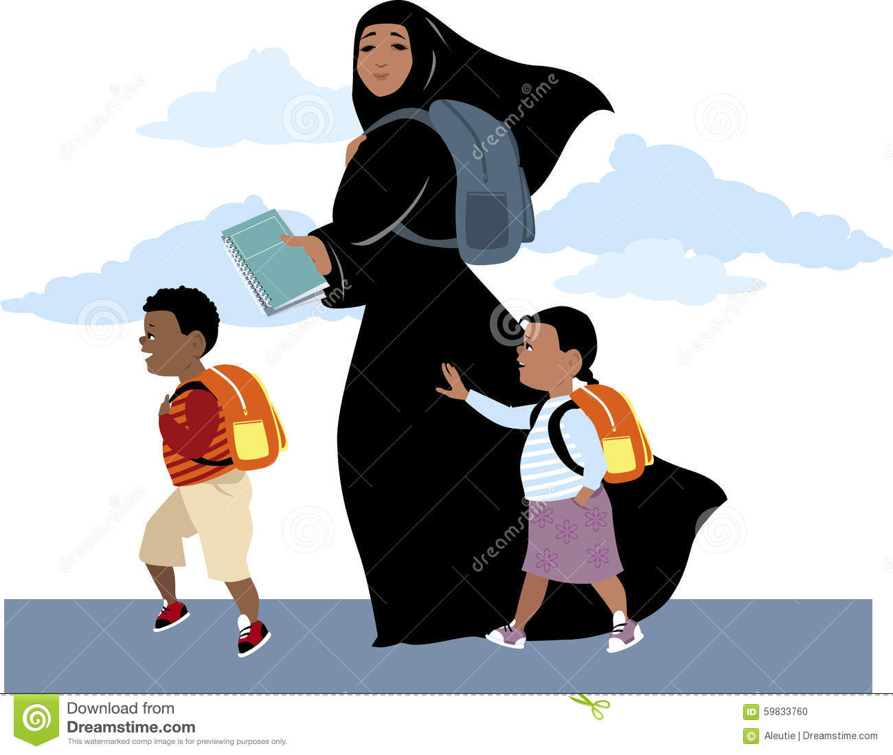 Chador Stock Illustrations.