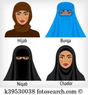 Chador Clipart Vector Graphics. 52 chador EPS clip art vector and.