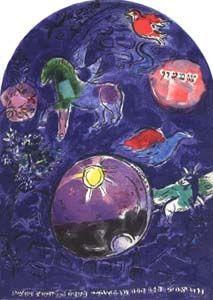 Lithograph de Marc Chagall, Tribu de Simeon on Amorosart.