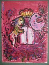 Lithograph de Marc Chagall, Lion de Juda on Amorosart.