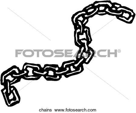Clip Art of Chain u14172087.