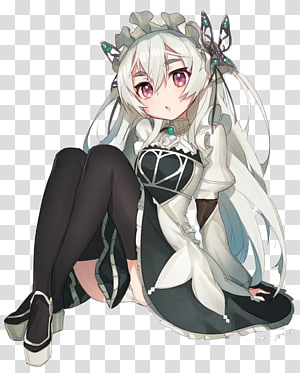 Chaika The Coffin Princess transparent background PNG.