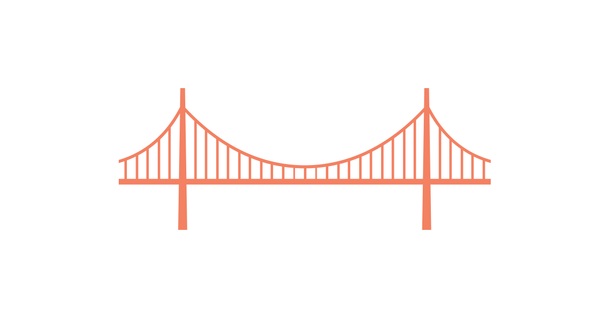 Chain Bridge Clipart Vector and PNG.
