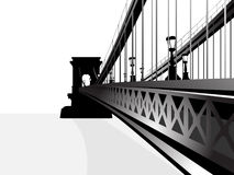 Chain Bridge Budapest Stock Illustrations.