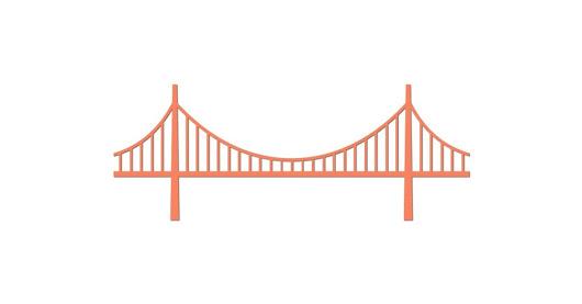 Chain Bridge Clipart . #bridge #clipart #graphicdesign #webdesign.