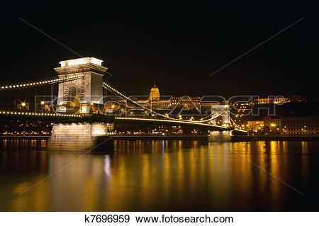 Stock Illustration of Szechenyi Istvan Chain Bridge k7696959.