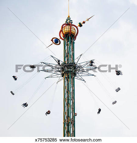 Stock Image of Carousel Swing Chain Swing Ride x75753285.