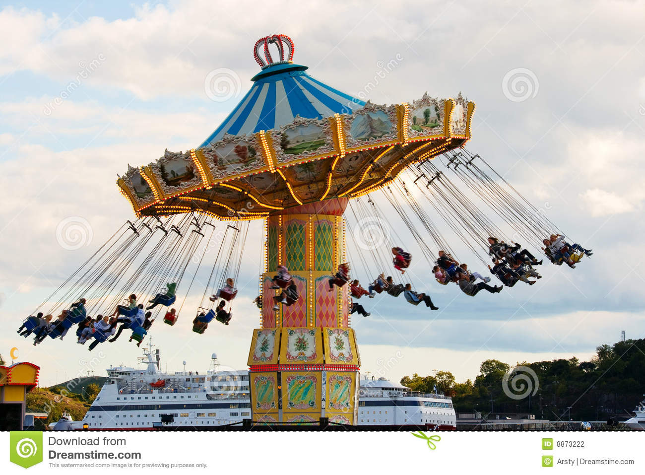Carousel In Stockholm Stock Photography.