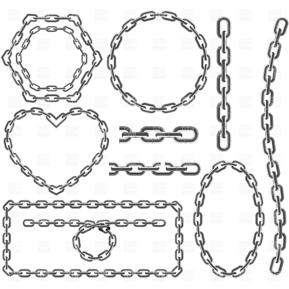 Chain Circle Clipart.