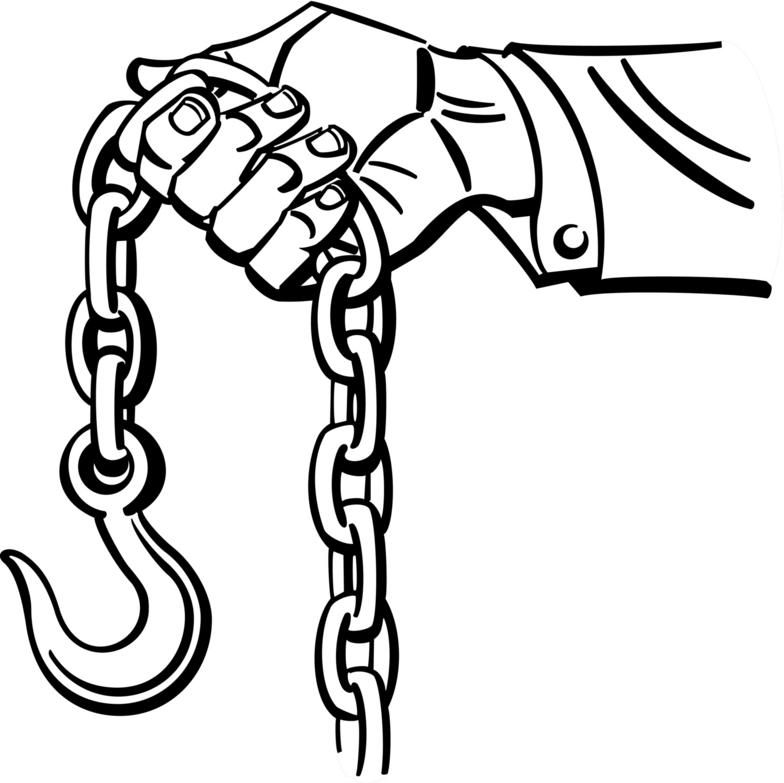 chain clipart black and white #5