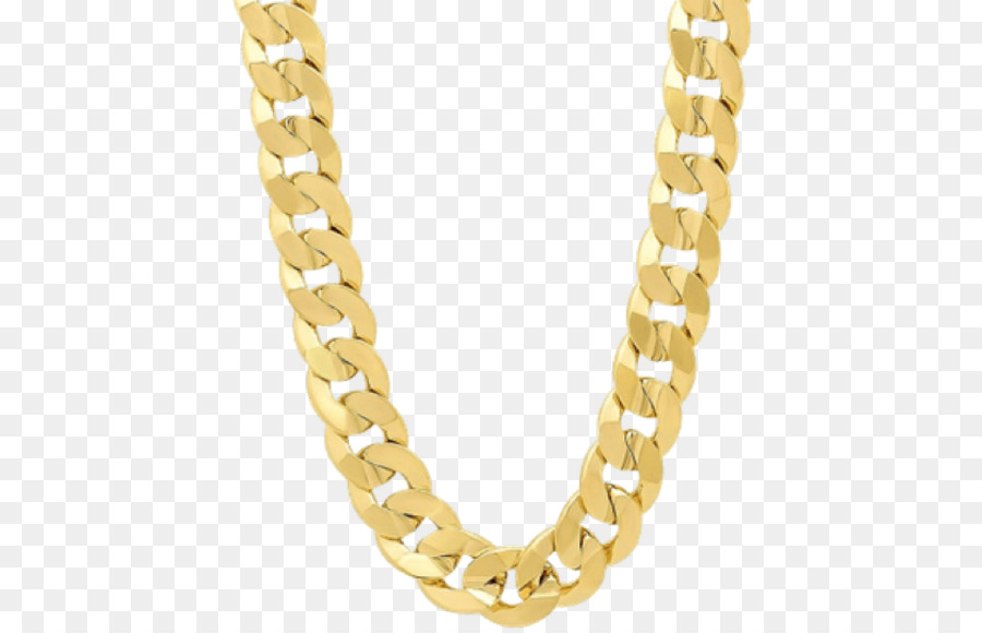 Gold Necklace png download.
