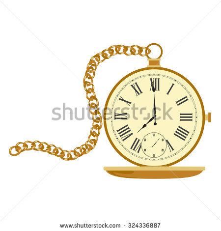 Golden Chain Clock Pocket Stock Photos, Royalty.