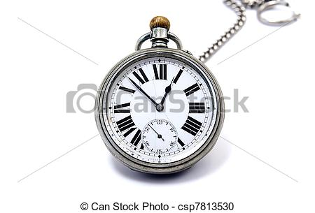 Stock Photography of isolated chain clock.