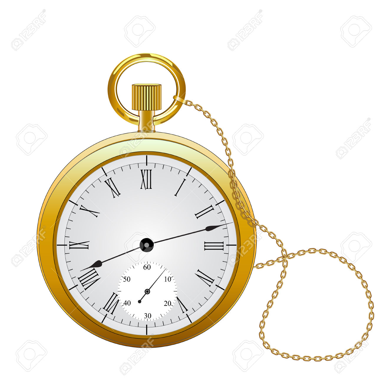 Pocket Watch Vector Royalty Free Cliparts, Vectors, And Stock.