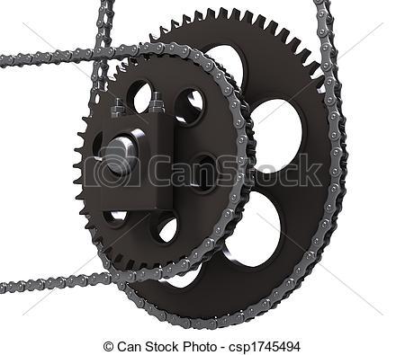 Stock Photo of Chain drive.