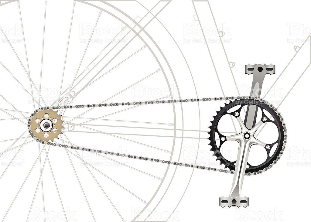 Bike Chain Drive stock vector art 164493026.