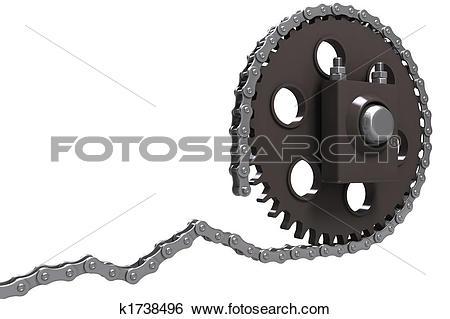 Stock Illustration of Chain drive k1738496.