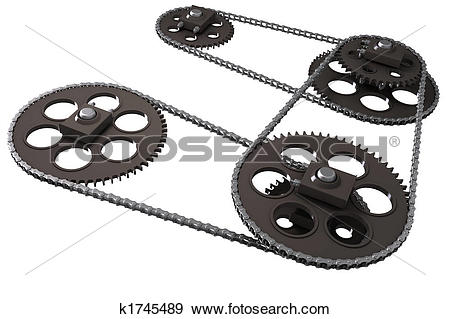 Stock Photograph of Chain drive k1745489.