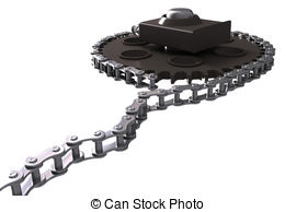 Chain drive Stock Illustration Images. 1,779 Chain drive.