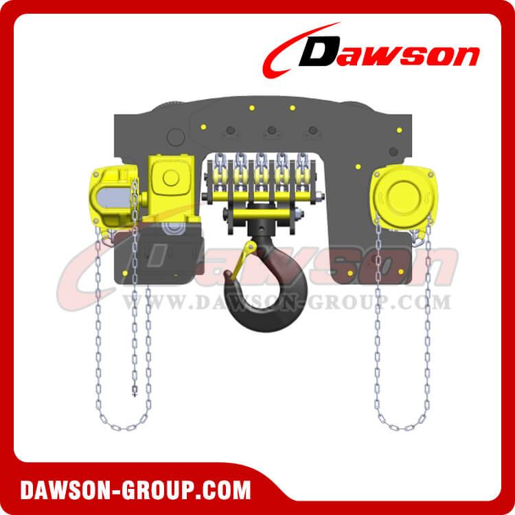 20Ton, 20000kg Chain Hoist Trolley, heavy duty Chain Block Trolley.