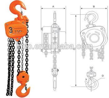 Portable Lift Crane Chain Block Pull Lift Chain Hoist.