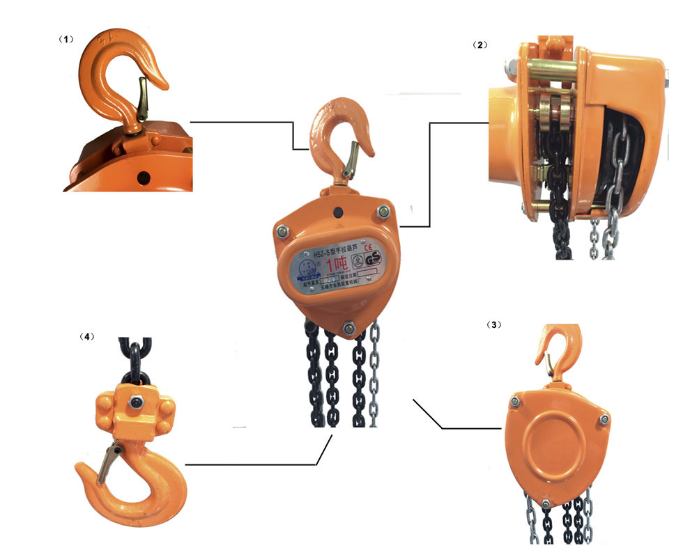 Taihu Professional Manufacturer Manual Chain Hoist Inspection.