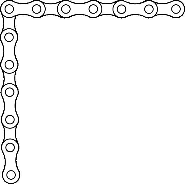 Chain Link Border Clipart.