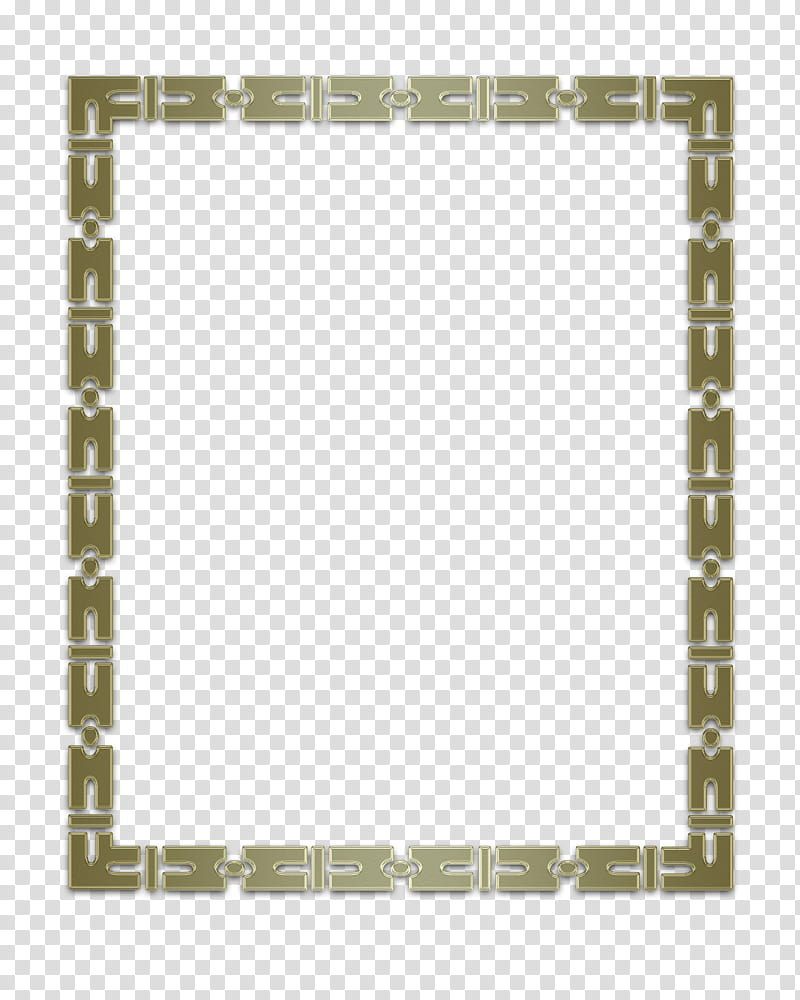 Gold chain link border transparent background PNG clipart.