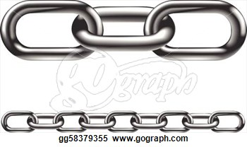 Chain Clip Art Single Link.