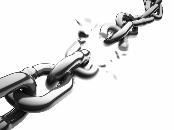 Broken chain link clipart.