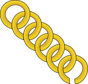 Gold Chain Of Round Links Clip Art at Clker.com.