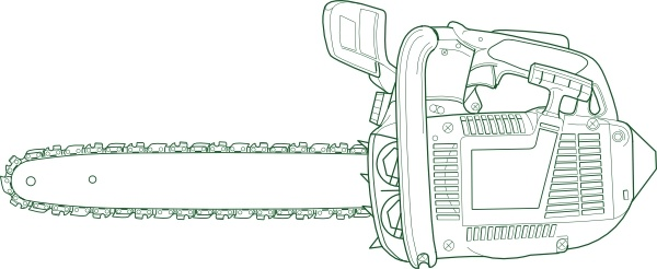 Chain Saw clip art Free vector in Open office drawing svg ( .svg.