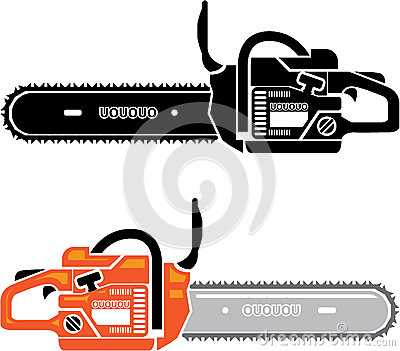 Chainsaw Stock Illustrations.