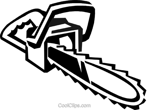 Clip art chainsaw free.