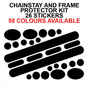 CHAINSTAY AND FRAME PROTECTOR KIT FOR BIKE BIKES CICYCLE CYCLE.