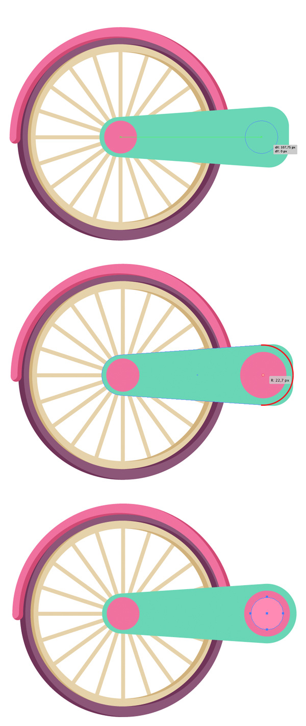 How to Create a Children's Colorful Bicycle in Adobe Illustrator.