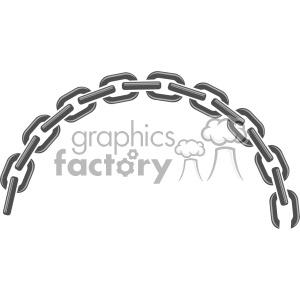 half circle chain link vector clipart. Royalty.