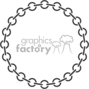 circle chain vector clipart. Royalty.