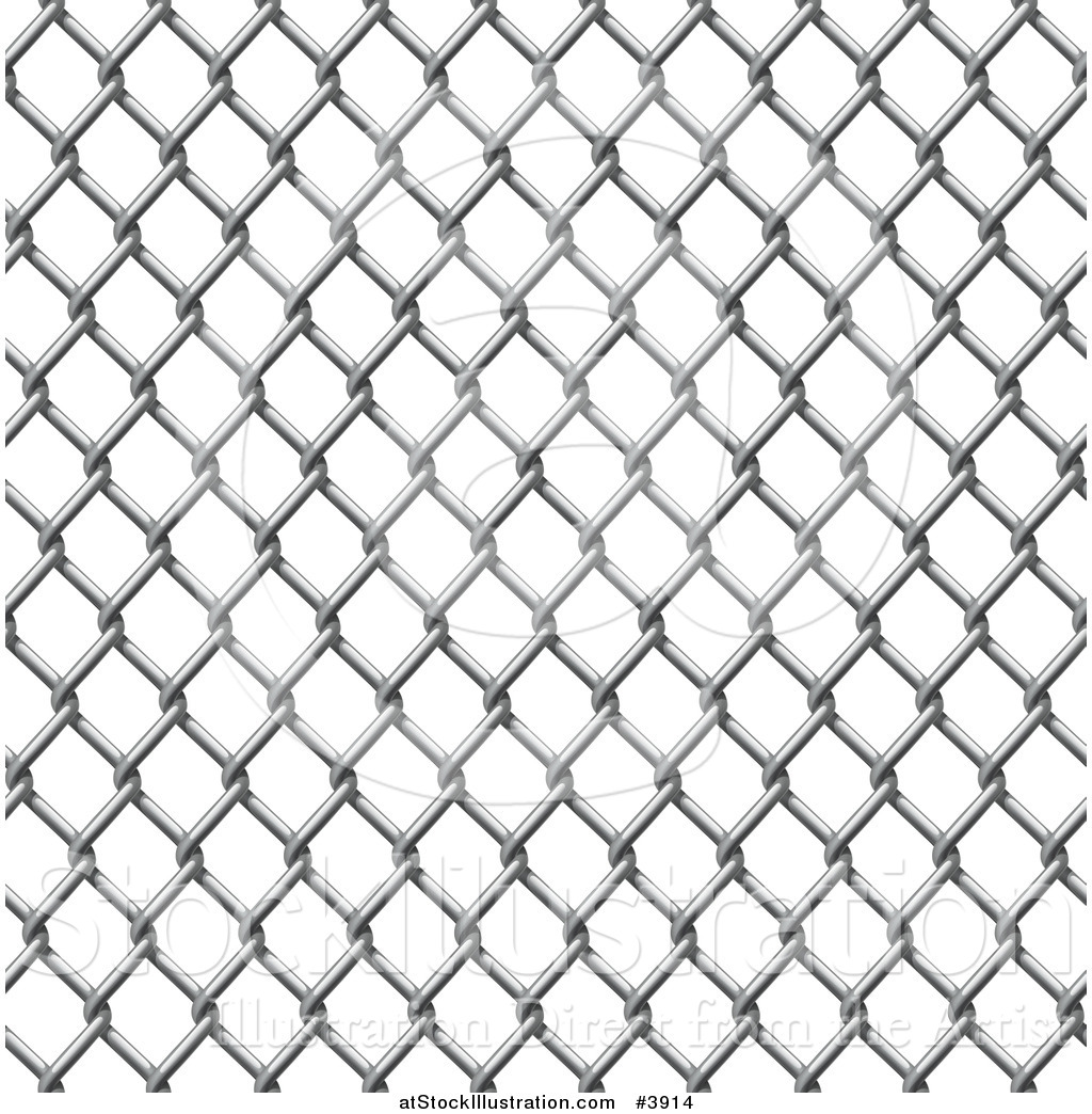 Vector Illustration of a Seamless Chain Link Fence Pattern by.