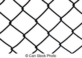 Stock Photo of Chain Link Fence Hole.