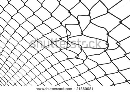 Chain Link Fence And Gate Clipart.