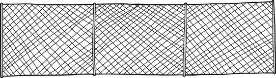 Cut Chain Link Fence Stock Illustrations.