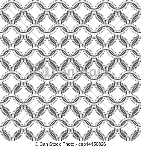 Vector Illustration of Chainmail seamless csp14150826.