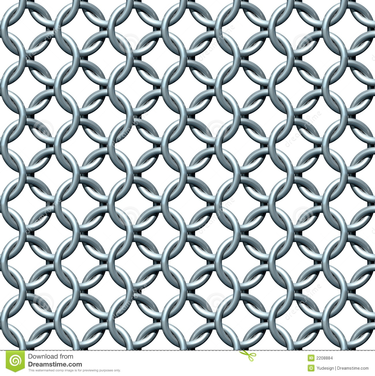Seamless Chainmail Texture Stock Images.
