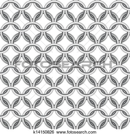 Clip Art of Chainmail seamless k14150826.
